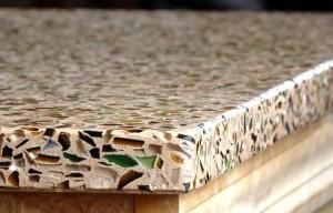 crushed glass countertop