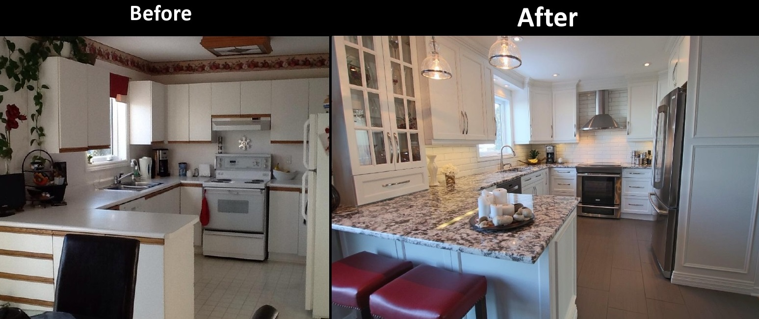 From Simple To Sleek A Renovation Before And After MR Kitchens - Kitchen remodels before and after photos